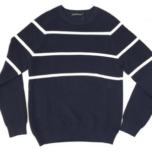 FRENCH CONNECTION SOFT RIBBED LOOK JUMPER NAVY
