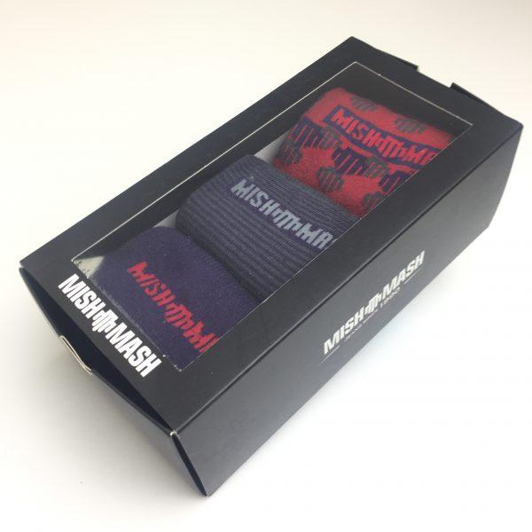 MISH MASH SOCK TRIPLE BOX RED