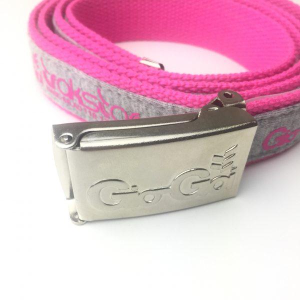 GIO GOI BUCKLE BELT PINK/GREY